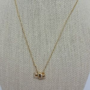 Kate Spade gold necklace pendant All tied up NEW